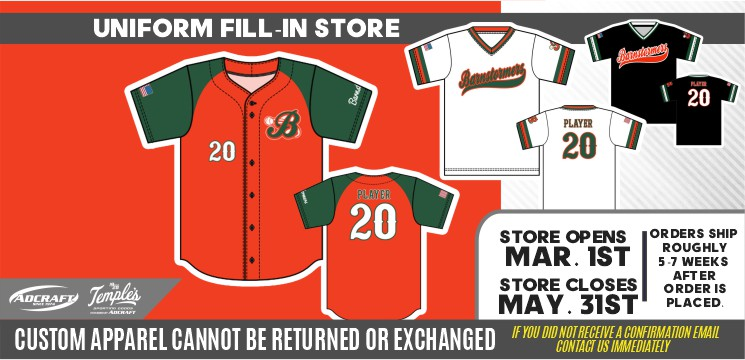 Barnstormer Baseball 2021 Team Uniforms – Fill Ins