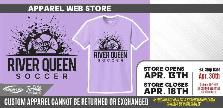 Clinton River Queen Senior Soccer Shirts 2021