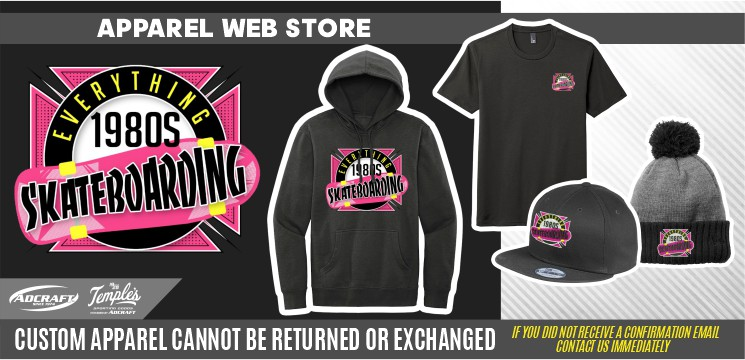 Everything 1980s Skateboarding Merch Site 2021