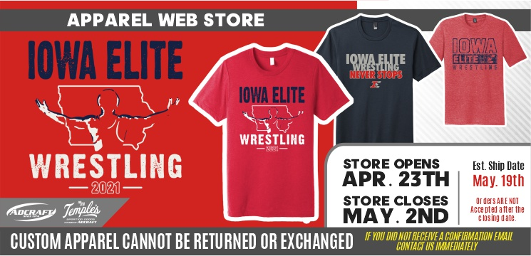 Iowa Elite Wrestling Club Spring 2021