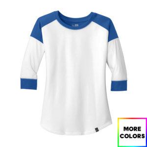 New Era Ladies Heritage Blend 3/4-Sleeve Baseball Raglan Tee