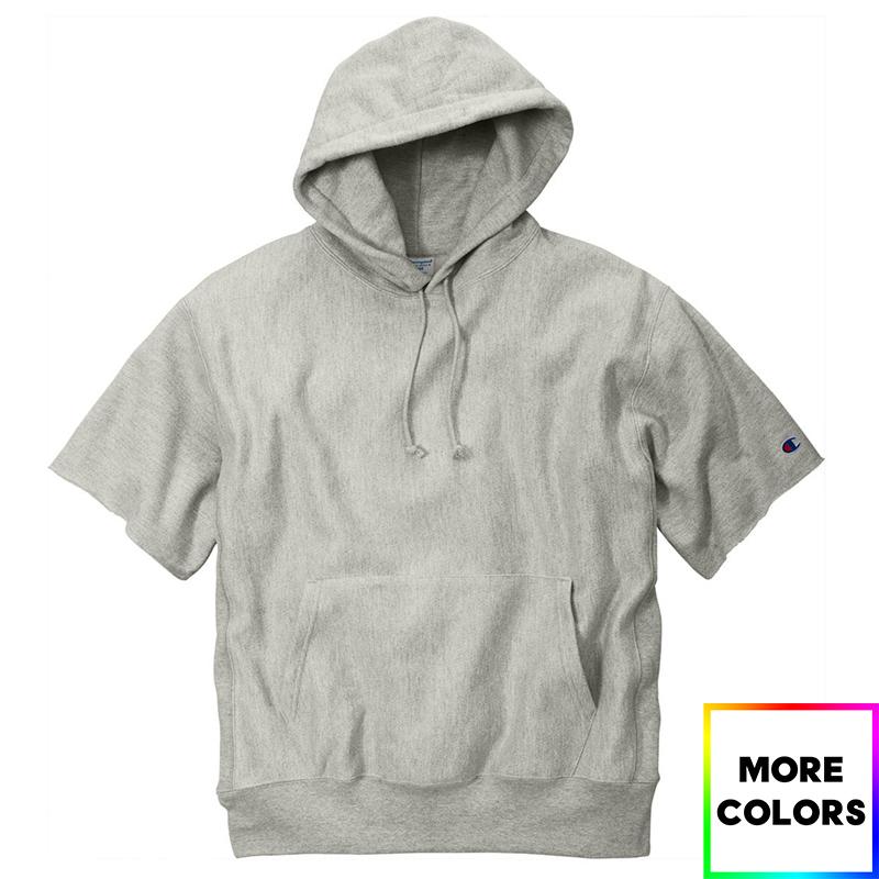 Champion Reverse Weave Short Sleeve Hooded Sweatshirt