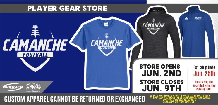 Camanche Football Player Gear 2021