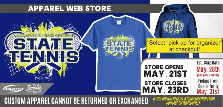 Camanche State Tennis 2021