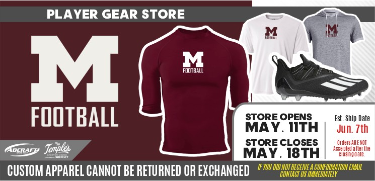 Moline Football Player Gear 2021