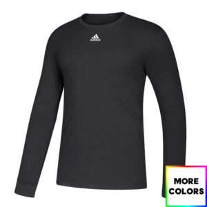 Adidas Amplifier Long Sleeve Ringspun Cotton Tee Shirt