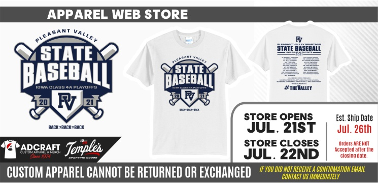 Pleasant Valley State Baseball 2021