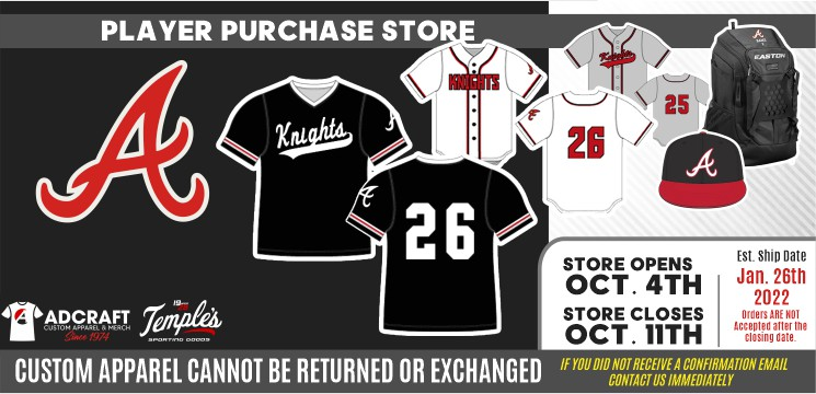 QC Area Knights 2022 Uniform Store Player Purchasing